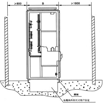 受电,联络柜安装示意图